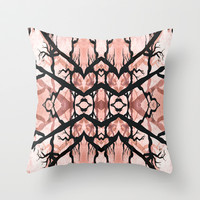 October Heart Throw Pillow by Ally Coxon