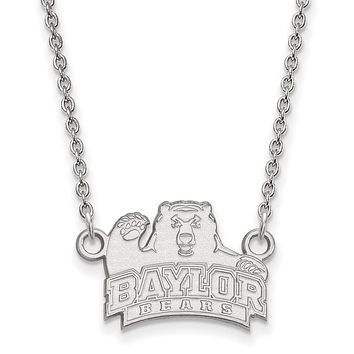 NCAA Sterling Silver Baylor U Small Bear Pendant Necklace