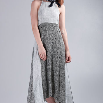 Mystree Halter Dress with Shark-bite Hem