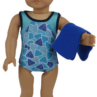 "Swimsuit Swimwear Bikini Set 4PC Doll Clothes For 18"" American Girl Handmade"