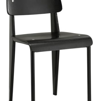 Prouve Style Side Chair - Black and Black