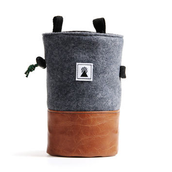 Origin Chalk Bag (Gray/Leather)