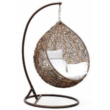 Trully - Outdoor Wicker Swing Chair - The Great Hammocks KD003AB
