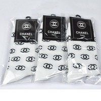 CHANEL Woman Cotton Socks