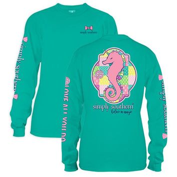 "Youth Simply Southern Long Sleeve Tee - ""SeaUni"""