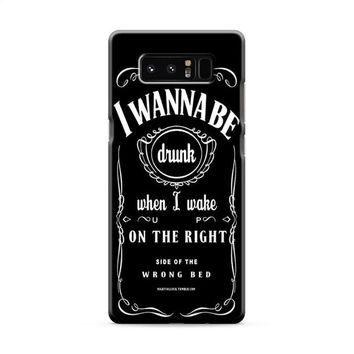 Ed Sheeran Drunk Lyrics jack daniels Samsung Galaxy Note 8 Case