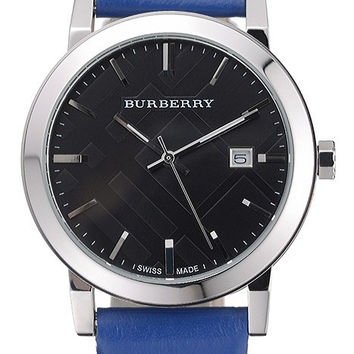 Burberry The City Classic Black Dial Blue Bracelet 622562