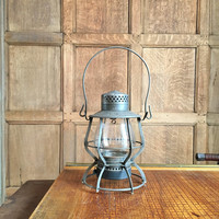 Antique Railroad Lantern, Early 1900s Pennsylvania Railroad Lantern, Keystone Lantern Co. Philadelphia Pennsylvania, Industrial Decor