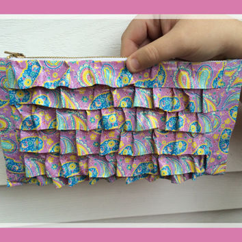 Paisley duct tape clutch, paisley purse, unique accessories, accessories for teens, accessories for woman, duct tape accessories