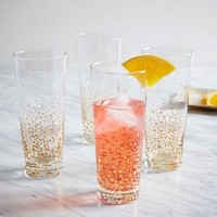 Metallic Bubble Highball Glasses
