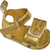 true ziggles gold sandal baby crib shoe Case of 12
