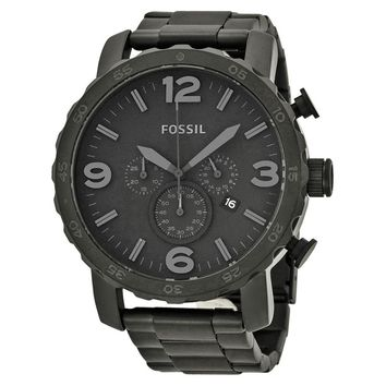Fossil Mens JR1401 All Black Chronograph Watch