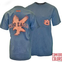 auburn chevron tee by Tiger Rags