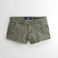 Girls Stretch Low-Rise Twill Chino Shorts | Girls Bottoms | HollisterCo.com