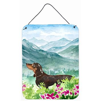 Mountian Flowers Dachshund Wall or Door Hanging Prints CK1993DS1216