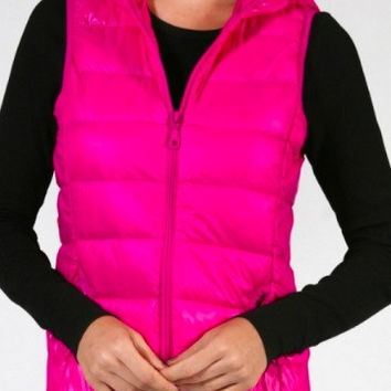Puffer Vest | Pink