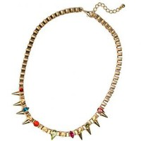 Chain Spike Diamond Necklace S010449
