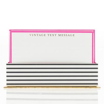 Vintage Text Message Flat Notes in Pink with Envelopes