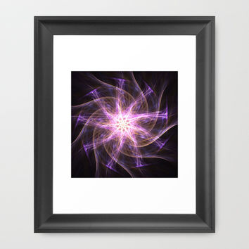 Violet spinning star Framed Art Print by cycreation