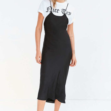 Silence + Noise Bronte Bias-Cut Midi Slip Dress - Urban Outfitters