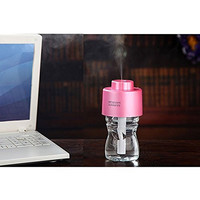 1 X Acoustic Audio Tek¨Portable Bottle Cap Air Humidifier with bottle for office home travel--Pink
