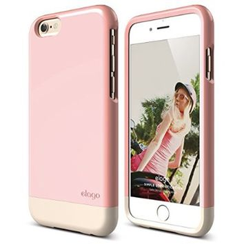 iPhone 6 Case, elago [Glide Limited-Edition][Lovely Pink / Champagne Gold] - [Mix and Match][Premium Armor][True Fit] - for iPhone 6 Only