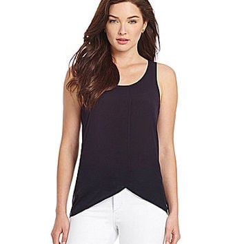 French Connection Polly Plains Tulip Tank - Utility Blue