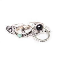 Key to my Heart Silver Ring Set