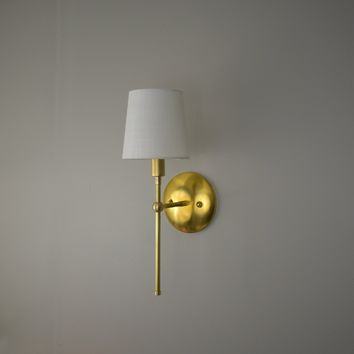 Traditional Linen Shade Wall Sconce