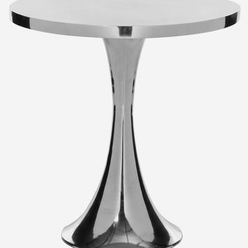 Galium Aluminum Side Table Silver