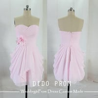 Custom Made Bridesmaids Dress,Pink Bridesmaid Dresses,Wedding Party Dress,Short Bridesmaid Dress,Prom Dresses