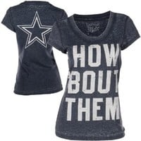 Dallas Cowboys Women's Pansy Burnout T-Shirt
