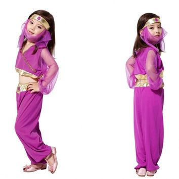 2018 Halloween Cosplay Girl Dress Arab India Jasmine Princess Costume Children Greek Goddess Fairy Performance Costume