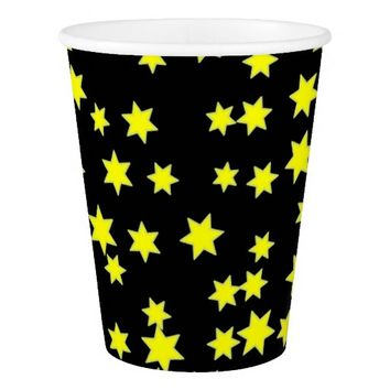 Yellow Stars Paper Cup