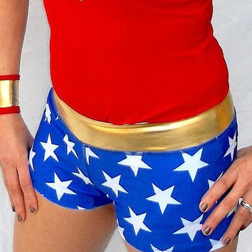 WONDER WOMAN inspired running shorts
