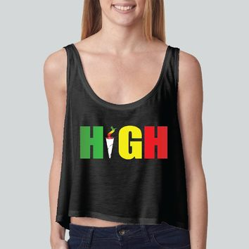 0e0fac8330331 High Rasta Colors girly boxy tank top Funny and Music