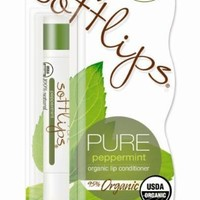 Softlips PURE Peppermint Organic Lip Conditioner,   (Pack of 2)