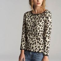 Lovey Leopard Jacquard Knit Top | Velvet Tees Official Online Store | Velvet By Graham & Spencer