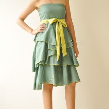 Waft  Green Cocktail Dress 2 Sizes Available by aftershowershop