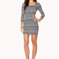 Tribal Print Cutout Dress | FOREVER 21 - 2000128718