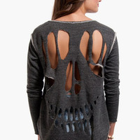 Peek-A-Skull Sweater $39