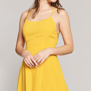 Strappy Cami Skater Dress