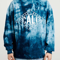 BLUE CALIFORNIA TIE DYE SWEATSHIRT - Printed Sweatshirts - Men's Hoodies & Sweatshirts - Clothing