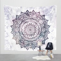 JEWEL MANDALA Wall Tapestry by Nika