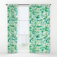 Abstract Jungle Window Curtains by Heather Dutton