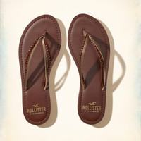 Girls Vegan Leather Mixed Strap Flip Flop | Girls Shoes & Accessories | HollisterCo.com