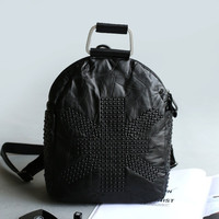 Stylish College On Sale Hot Deal Casual Comfort Back To School Vintage Leather Multi-functioned Bags Backpack [4915798596]