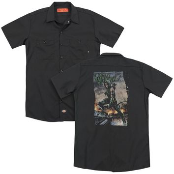 Jla - Fire And Rain(Back Print) Adult Work Shirt