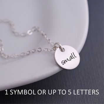 Design Your Own Small Pendant Necklace - Silver