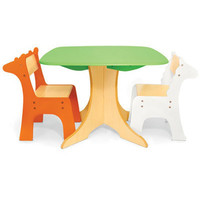 Pkolino Tree Table with Zebra and Giraffe Chairs at Oompa - Baby Toys, Gear and Furniture